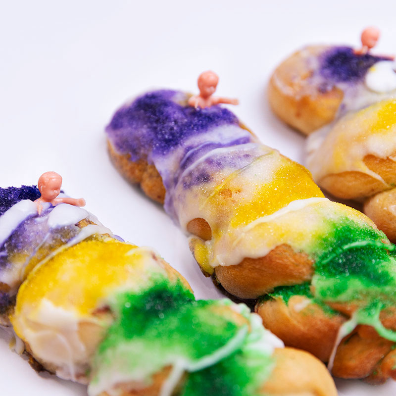 Sugar Love Bakery King Cake on a Stick