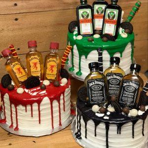 Alcohol Drip Cake by Sugar Love Bakery