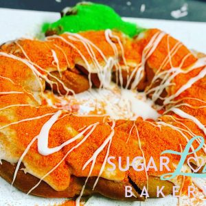 Pumpkin Shaped King Cake
