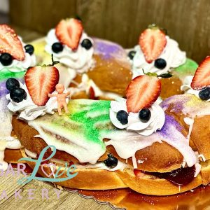 Chantilly King Cake from Sugar Love Bakery in Slidell Louisiana