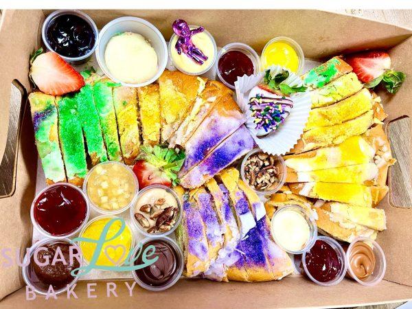 Charcuterie King Cake Board by Sugar Love Bakery
