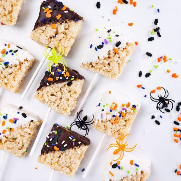 Halloween Rice Krispie Pops