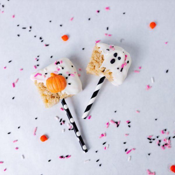 Cute Halloween Rice Krispie Pops